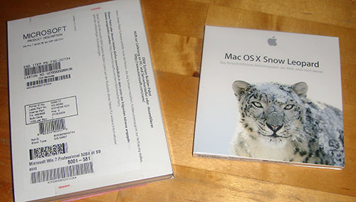 Windows 7 SB und Snow Leopard Packaging